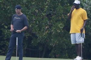 Michael Jordan & Tom Brady Play Golf In The Bahamas